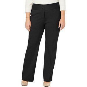 Alfani Black Wide Leg Mid-Rise Pants Trouser 20W